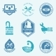 Plumbing Labels Icons Set - GraphicRiver Item for Sale