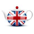 English ceramic teapot with flag of Great Britain. - PhotoDune Item for Sale