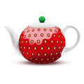 Teapot in the form of a large strawberry. - PhotoDune Item for Sale