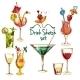 Sketch Cocktail Set - GraphicRiver Item for Sale