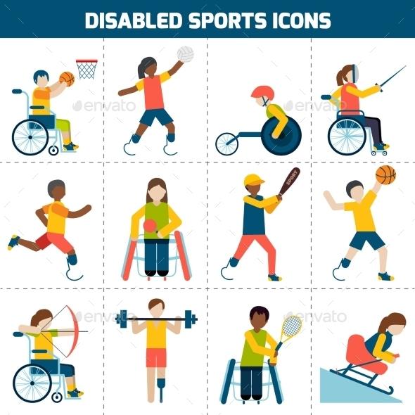 GraphicRiver Disabled Sports Icons 10138630