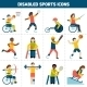 Disabled Sports Icons - GraphicRiver Item for Sale