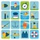 Fishing Icons Set - GraphicRiver Item for Sale
