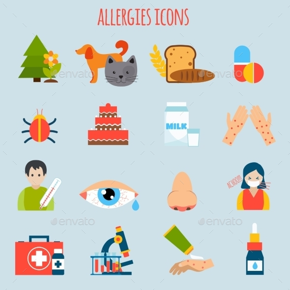 GraphicRiver Allergies Icon Set 10138678