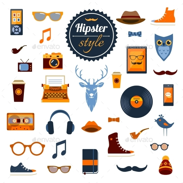GraphicRiver Hipster Elements Set 10138717