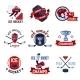 Hockey Emblems Set - GraphicRiver Item for Sale