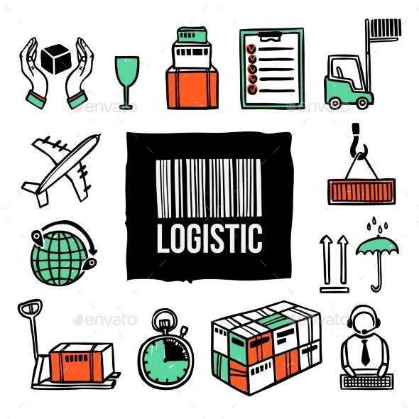 GraphicRiver Logistic Icon Set 10138793