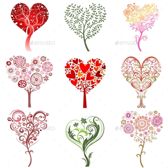 GraphicRiver Trees in the Form of a Heart 10139297
