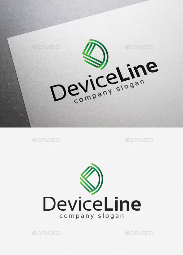 GraphicRiver Device Line Logo 10139744