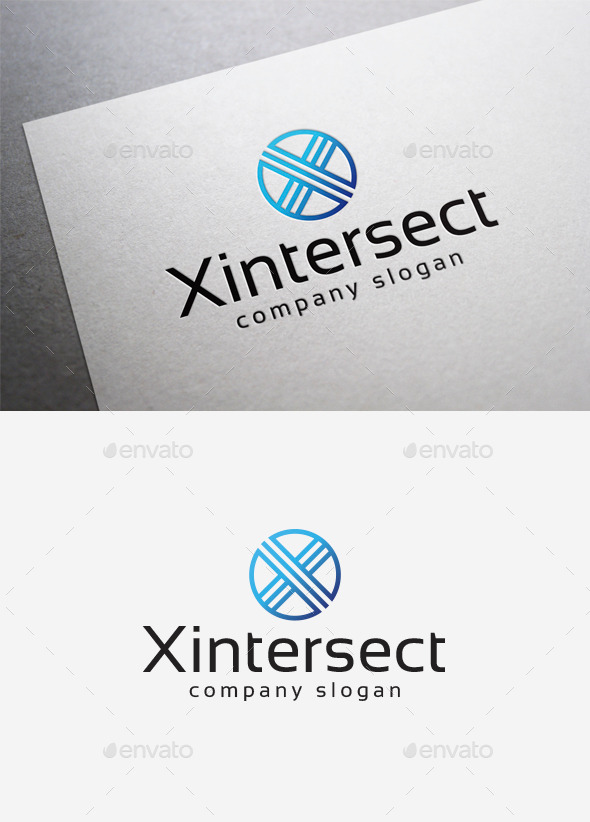 GraphicRiver X Intersect Logo 10140054