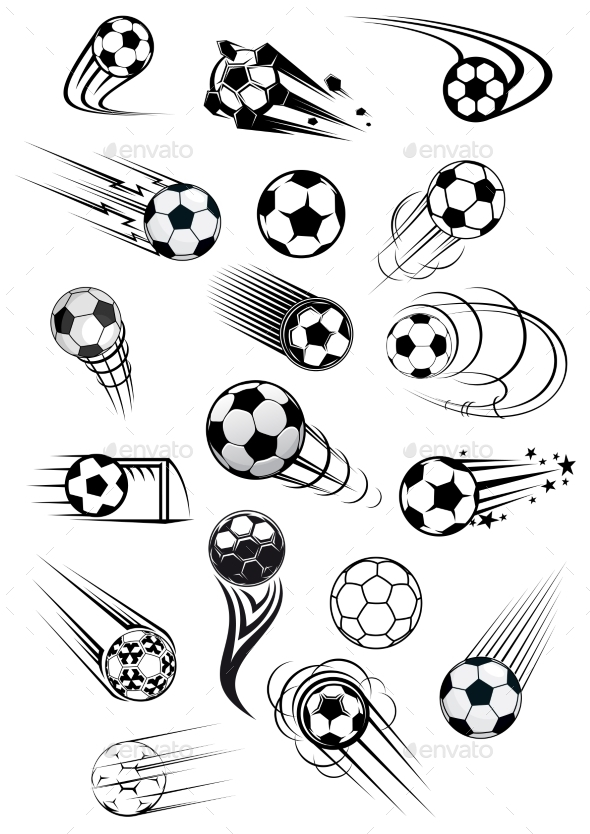GraphicRiver Football or Soccer Ball Symbols 10140179