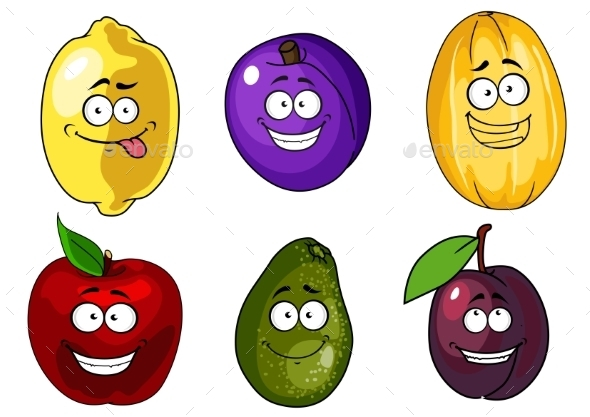 GraphicRiver Cartoon Fruits 10140190