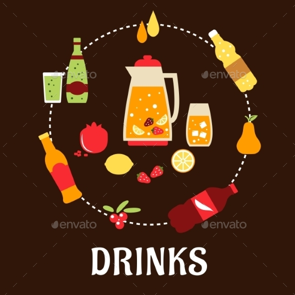 GraphicRiver Beverages and Drinks Composition 10140214