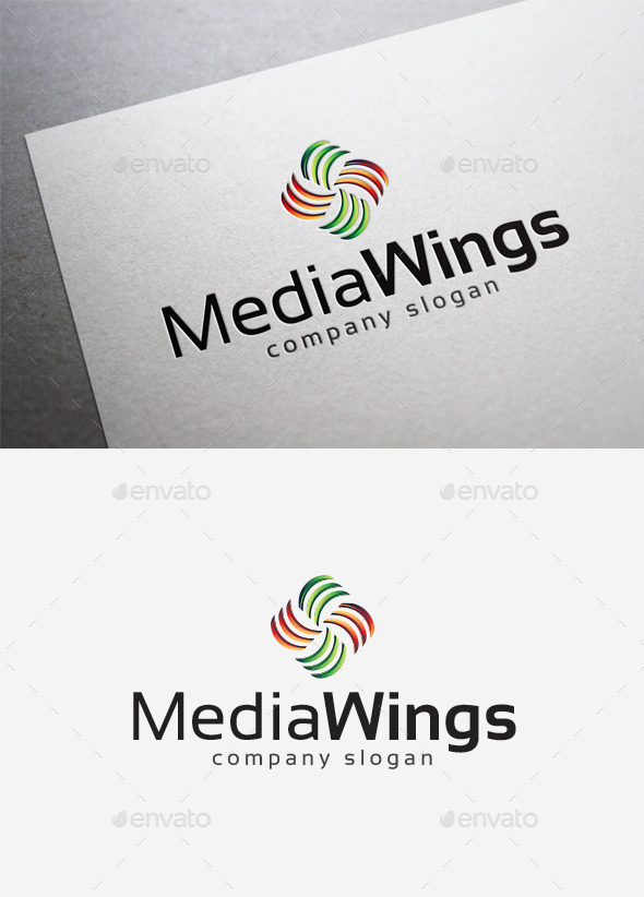 GraphicRiver Media Wings Logo 10140248