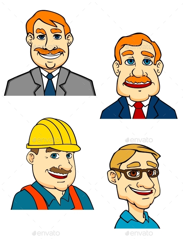 GraphicRiver Cartoon Males 10140314