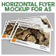 Horizontal Flyer Mockup for A5 - GraphicRiver Item for Sale