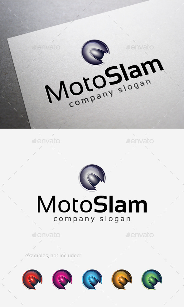 GraphicRiver Moto Slam Logo 10140373