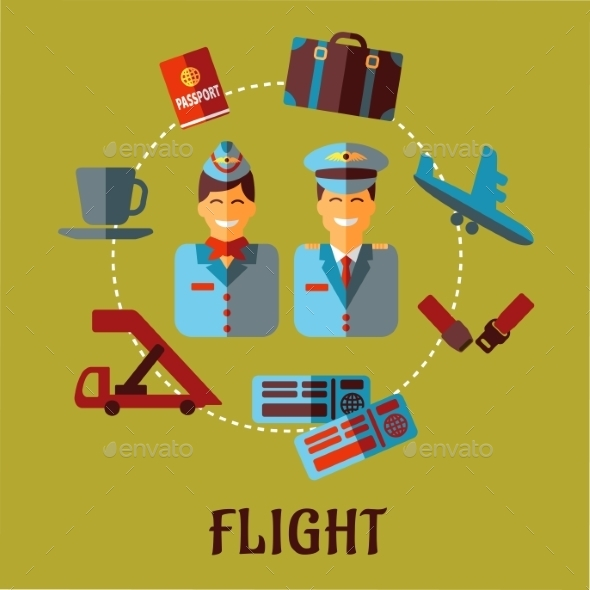 GraphicRiver Flat Air Traveling Infographic 10140375