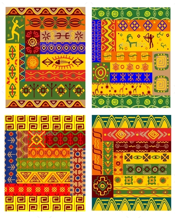GraphicRiver Ethnic Abstract Pattern in African Style 10140418