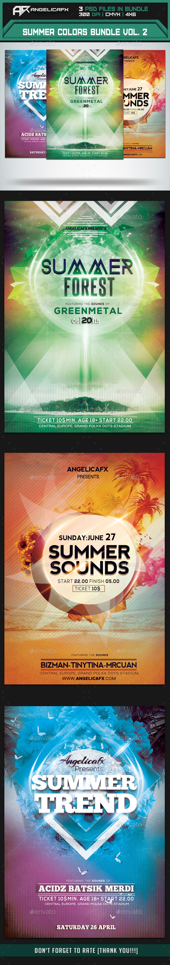GraphicRiver Summer Colors Flyer Bundle Vol 2 10140448