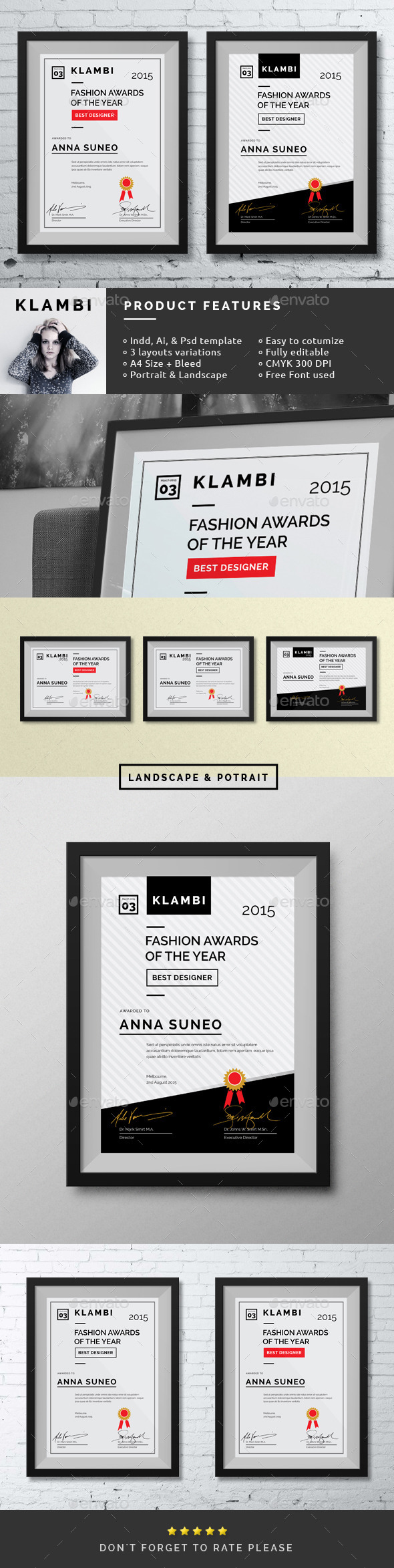 GraphicRiver Fashion Certificate 10140478
