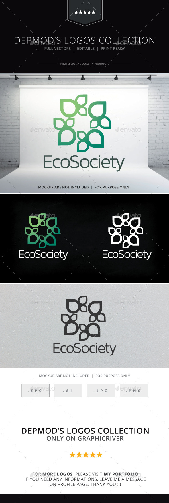 GraphicRiver Eco Society Logo 10140479