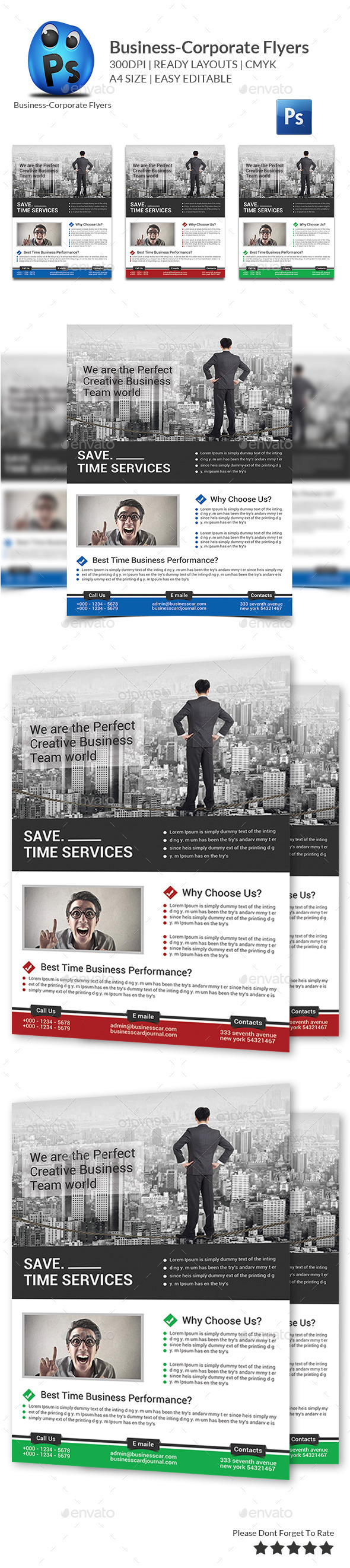 GraphicRiver Best Business Flyers Templates 10063023