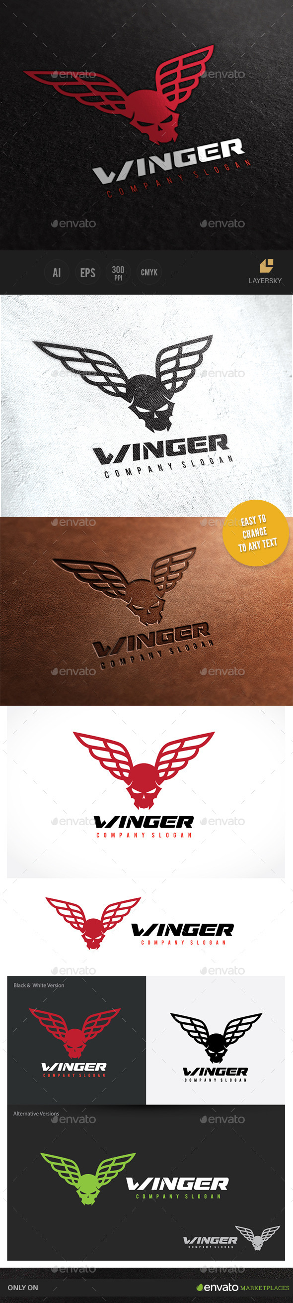 GraphicRiver Winger Logo 10140563