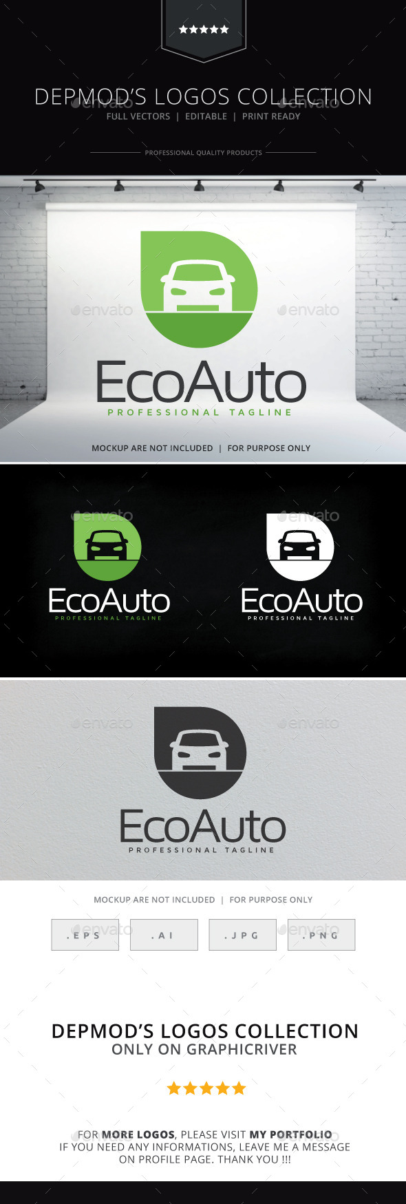 GraphicRiver Eco Auto Logo 10140571