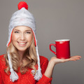 Beautiful Blonde Woman With An Aromatic Hot Coffee In Hand. - PhotoDune Item for Sale