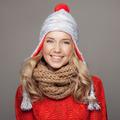 Beautiful Smiling Woman Wearing Winter Clothing. - PhotoDune Item for Sale