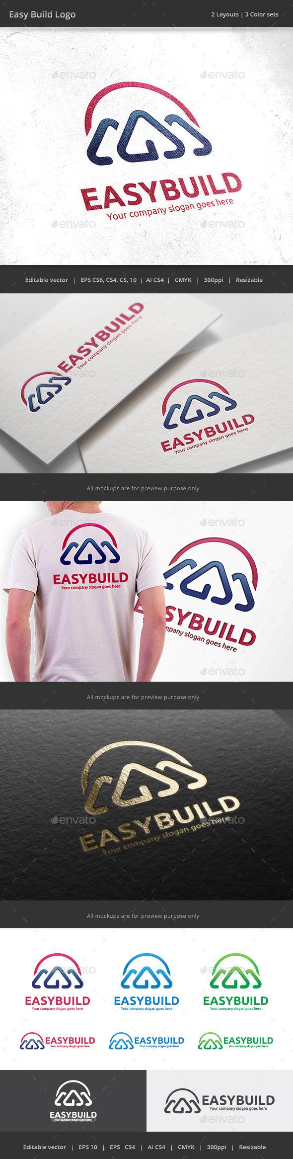 GraphicRiver Easy Build House Logo 10140644