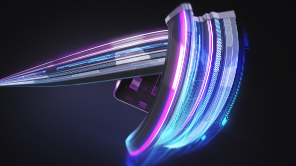 VideoHive Futuristic Stripe Logo 10112171