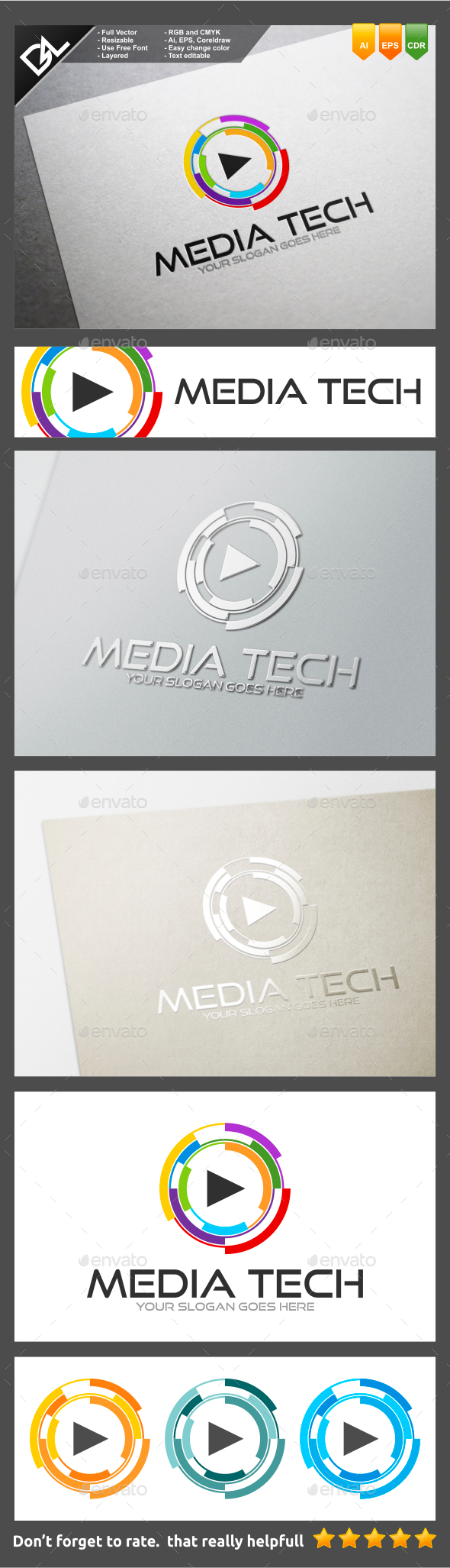 GraphicRiver Media Tech 10140659