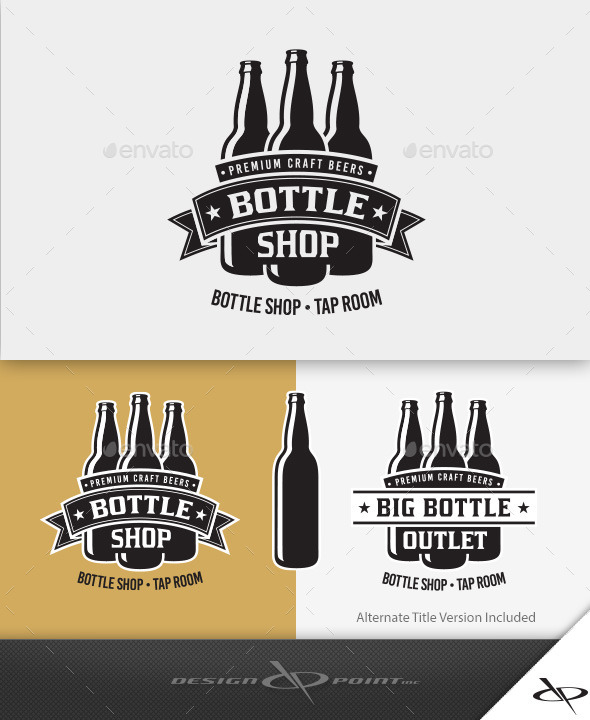 GraphicRiver Bottle Shop Logo 10101318