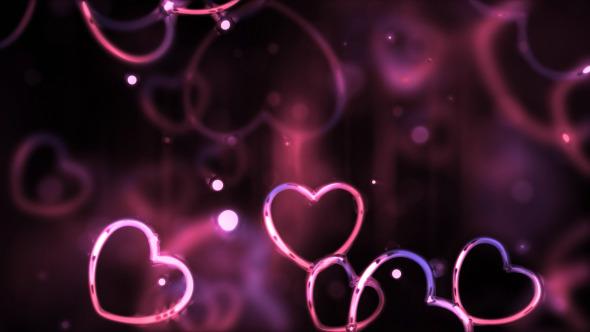 Glossy Valentines Hearts