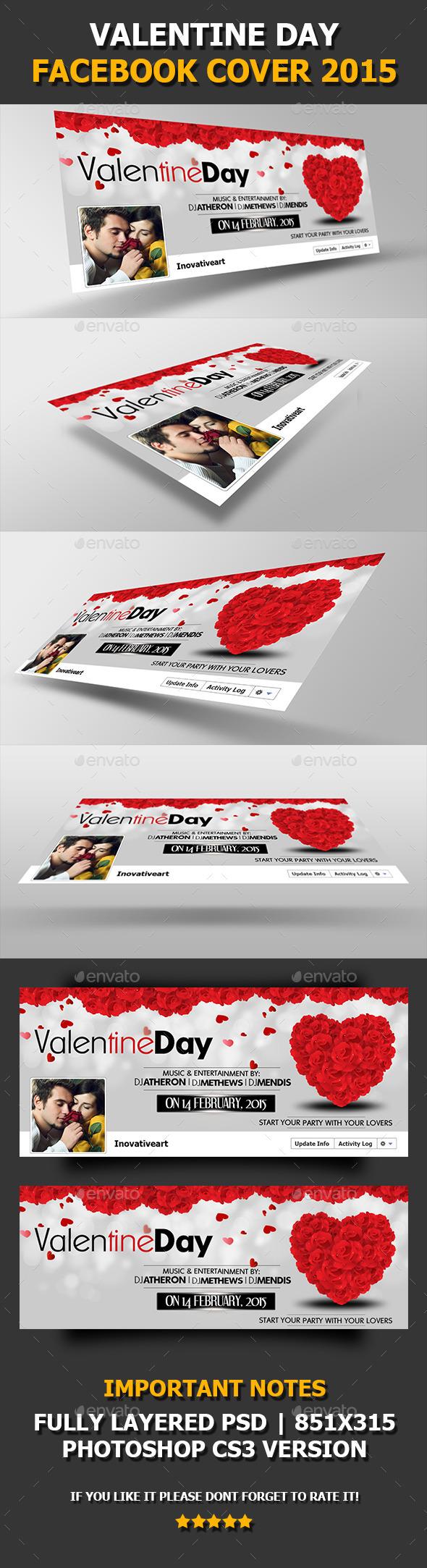 Valentine Day 2015 Facebook Cover V02 -Timeline Cover