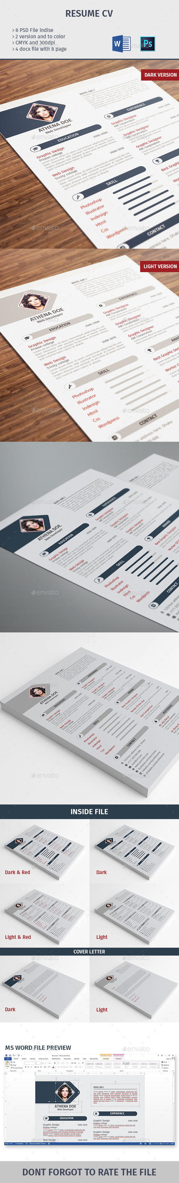 GraphicRiver Resume CV 10092923