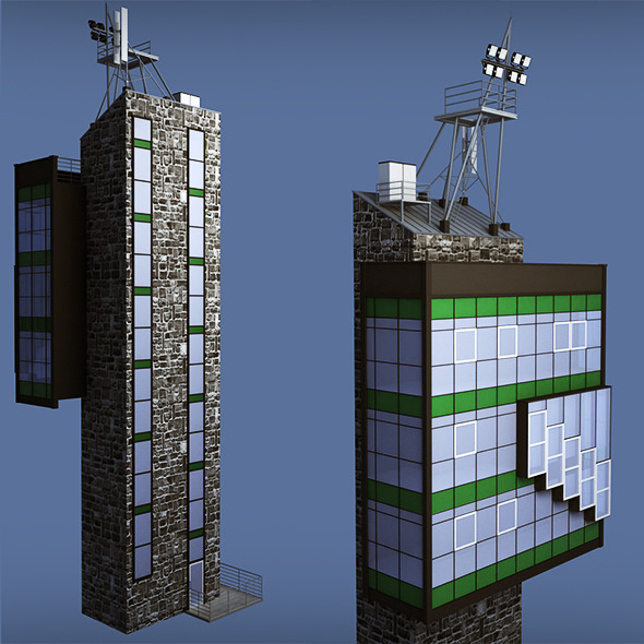 3DOcean Industrial glass tower 10141583