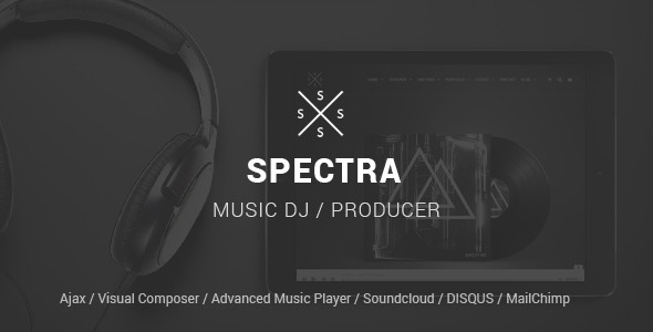 ThemeForest SPECTRA Responsive Music Wordpress Theme 10141585