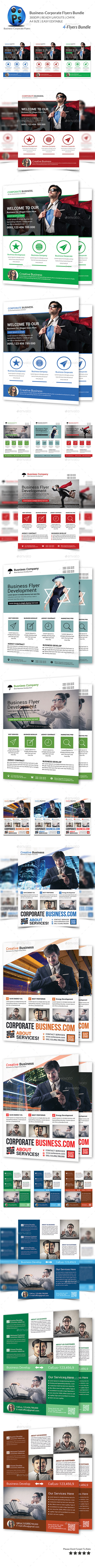 GraphicRiver Corporate Business 4 Flyer Bundle 10141588