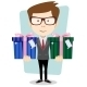 Businessman Gives Two Gifts - GraphicRiver Item for Sale