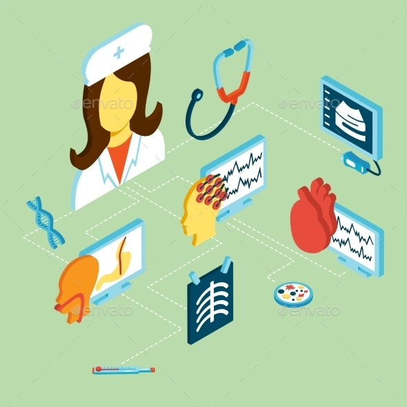 GraphicRiver Medical Isometric Icons 10141615