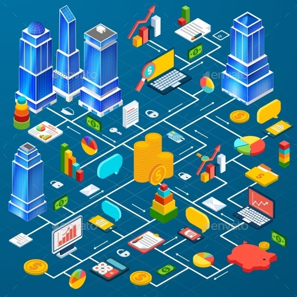 GraphicRiver Office City Infrastructure 10141664