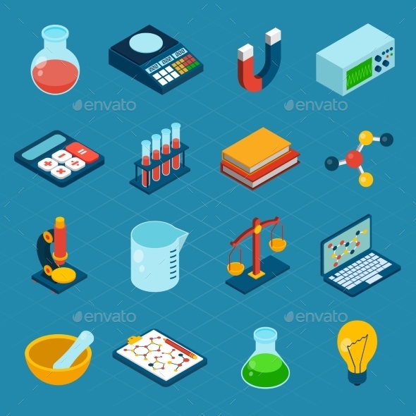 GraphicRiver Isometric Science Icons 10141666