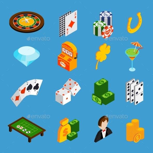 GraphicRiver Casino Isometric Icons Set 10141667