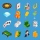 Casino Isometric Icons Set - GraphicRiver Item for Sale