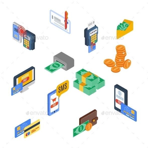 GraphicRiver Payment Icons Isometric 10141674