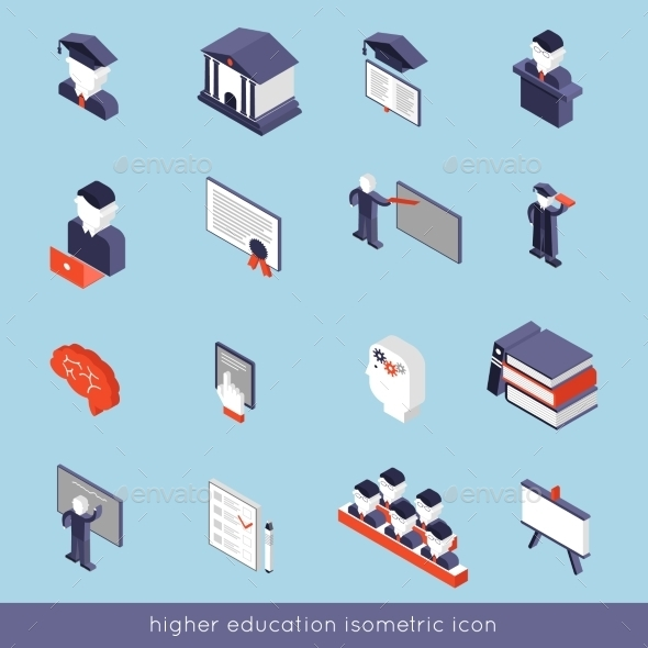 GraphicRiver Higher Education Isometric Set 10141678