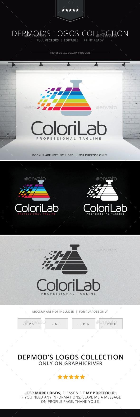 GraphicRiver Colori Lab Logo 10141695
